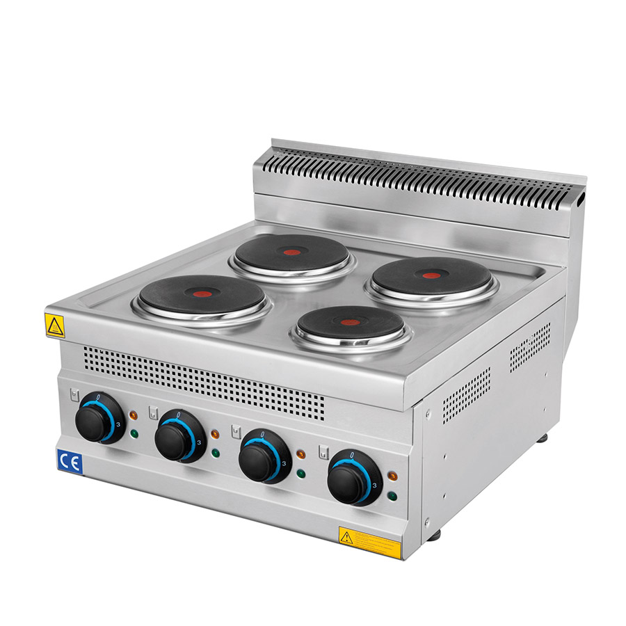 Electric Cooker 4 Plates Stainless Steel