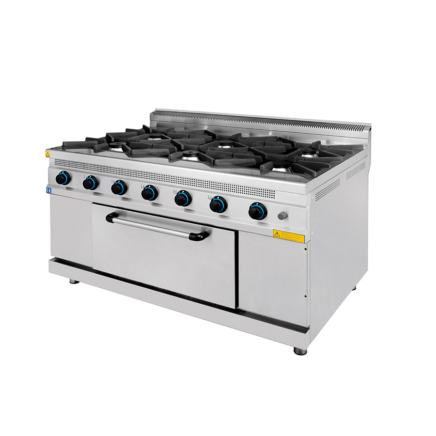 Gas Cooker With 6 Burners