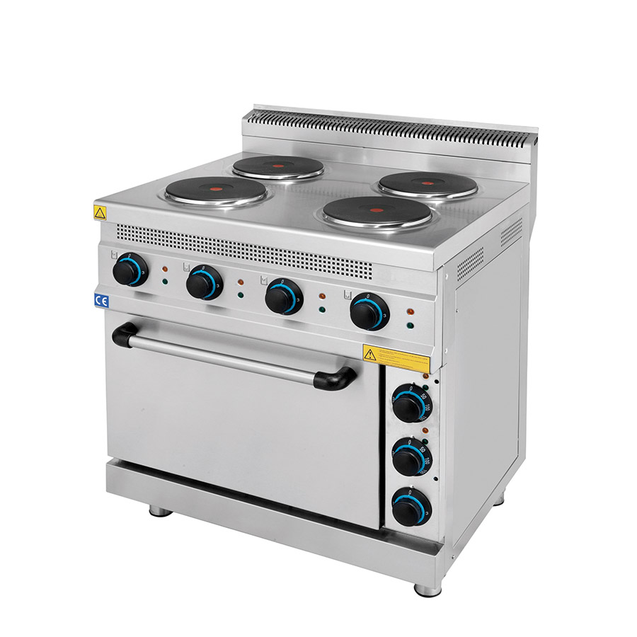 Electric Range 4/6 Hot Plates With Oven